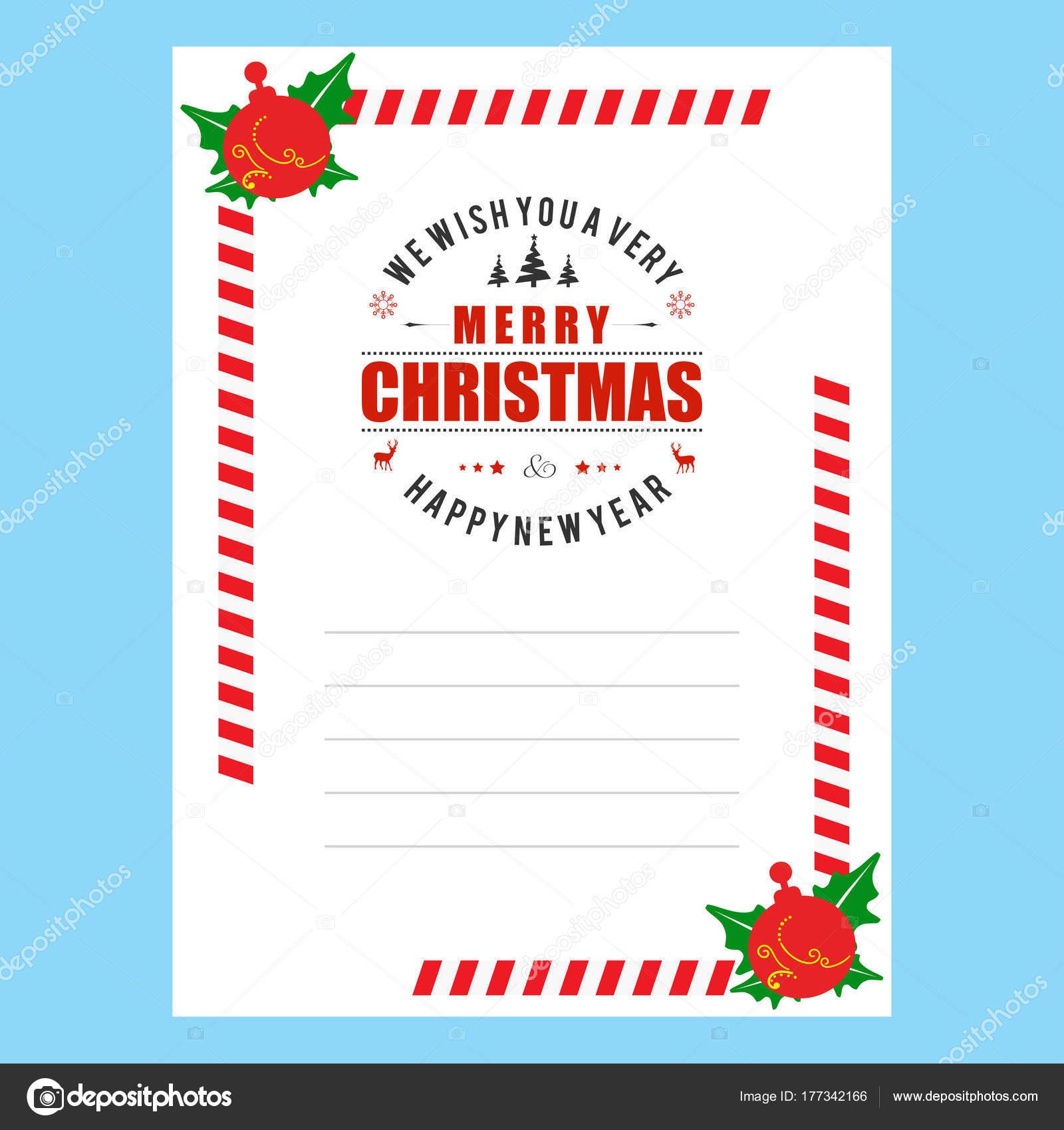 Tarjeta Elegante Invitación Navidad Vector Ilustración