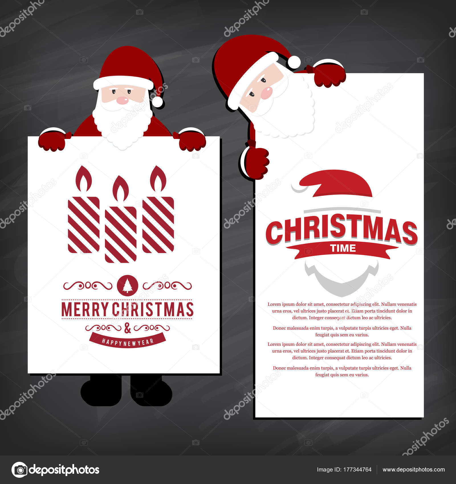 Stilvolle Weihnachtskarten Einladung Mit Nikoläuse Vektor Abbildung