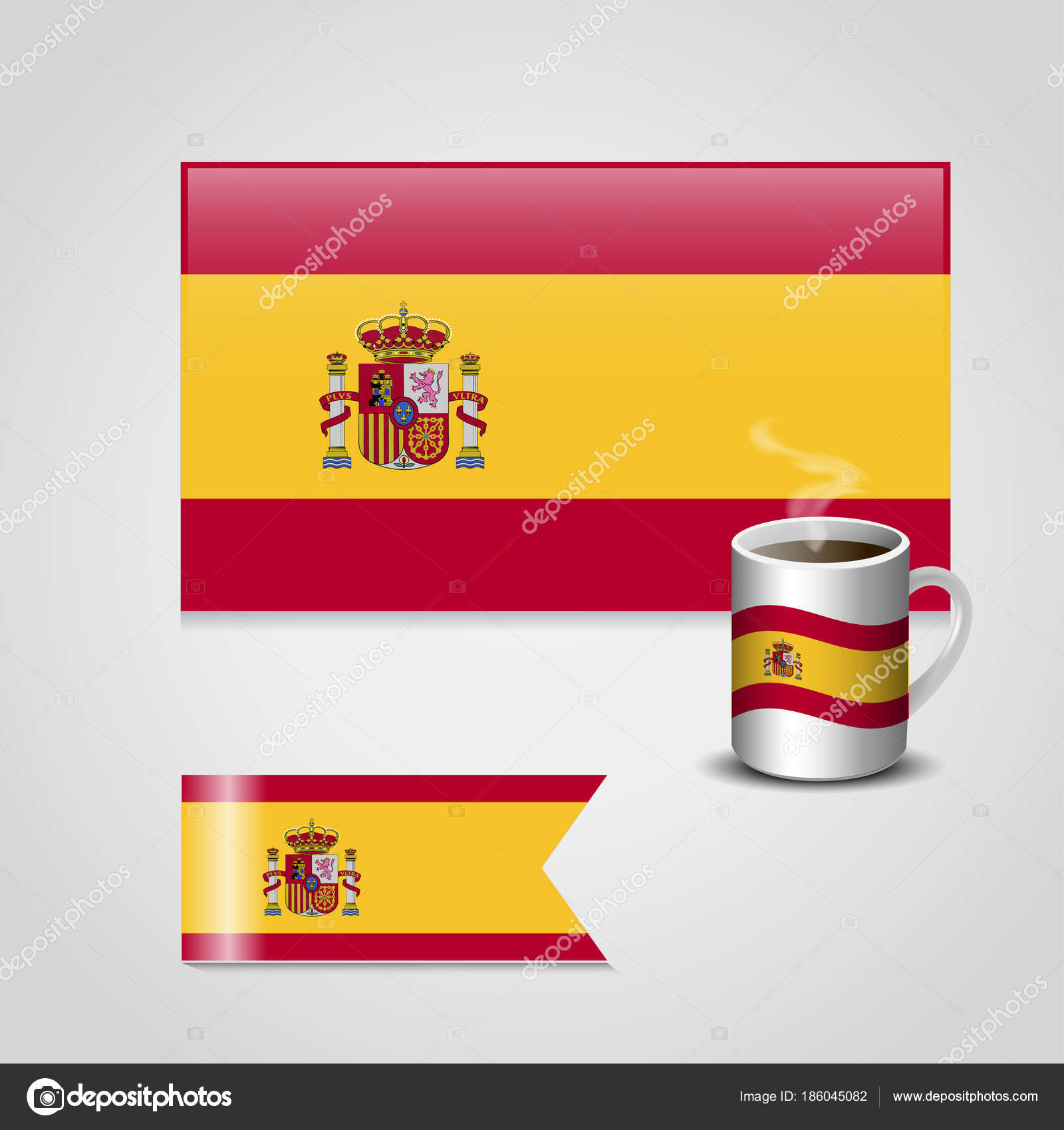 set items spain flags vector illustration stock vector ibrandify