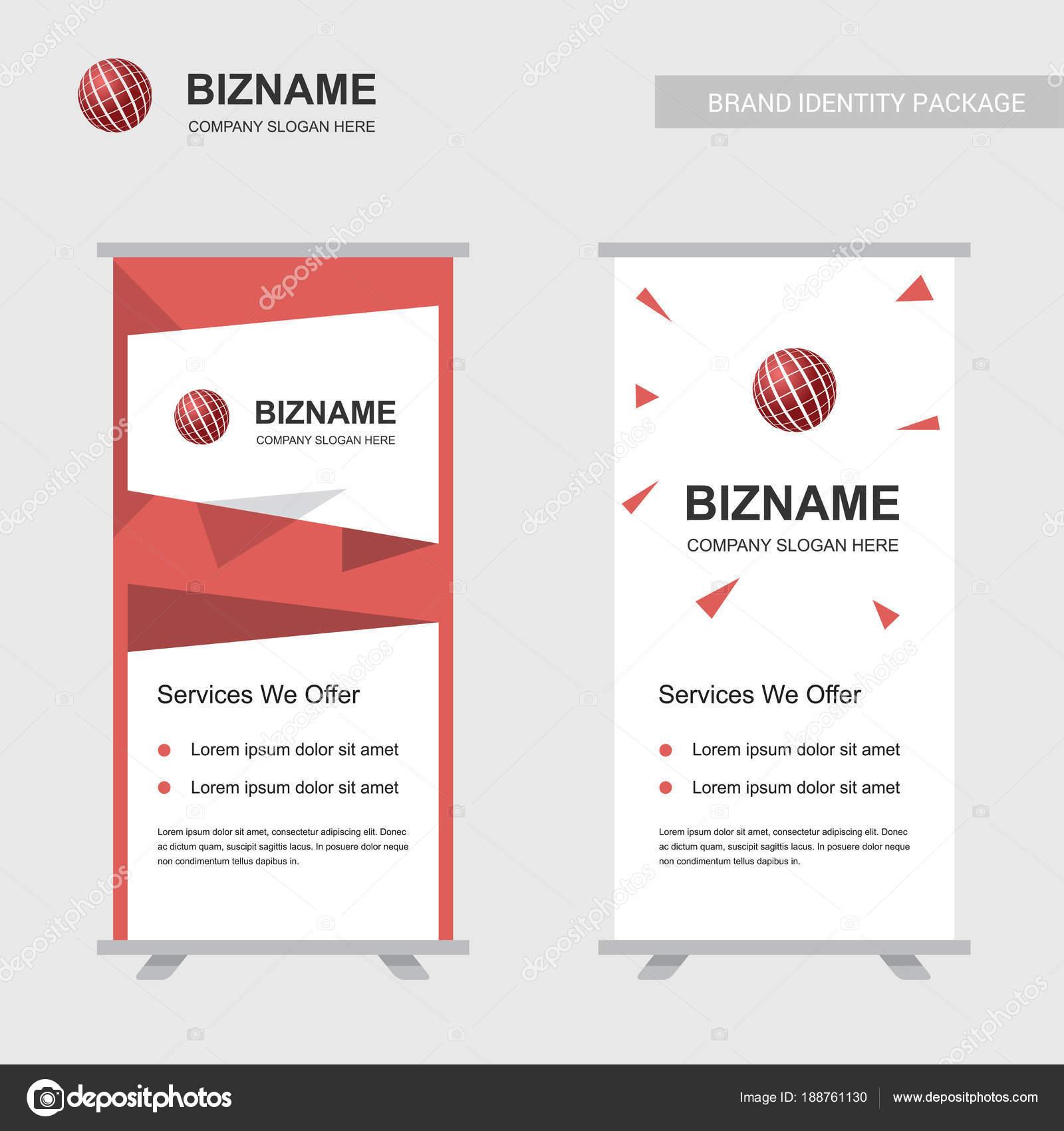 Company Advertisement Banners Design Ball Logos Vector