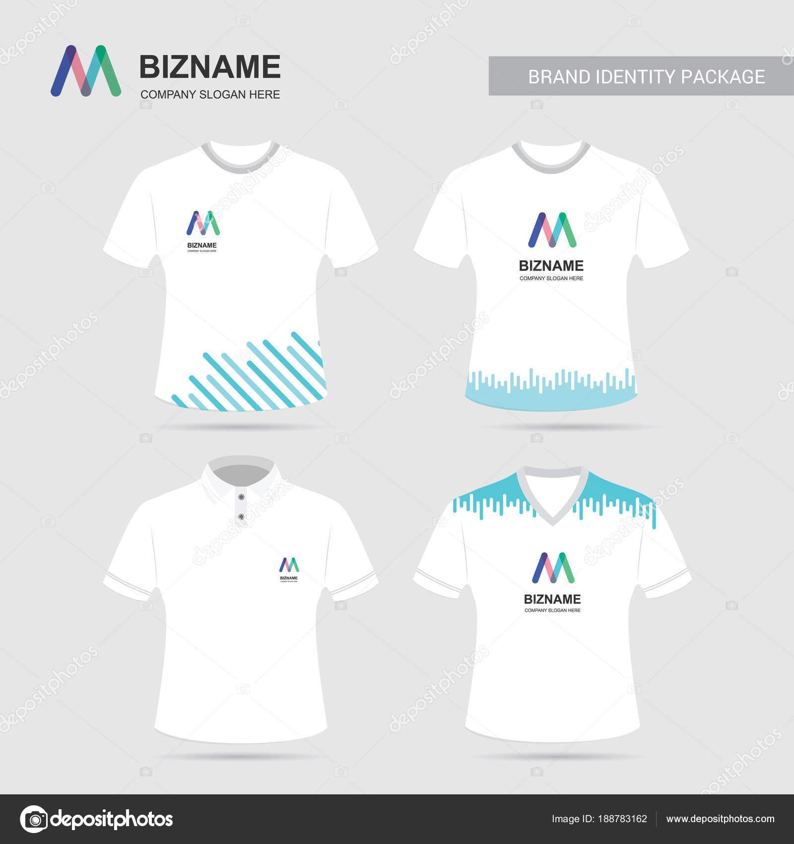 Company Advertisement Shirts Unique Design Logos Vector