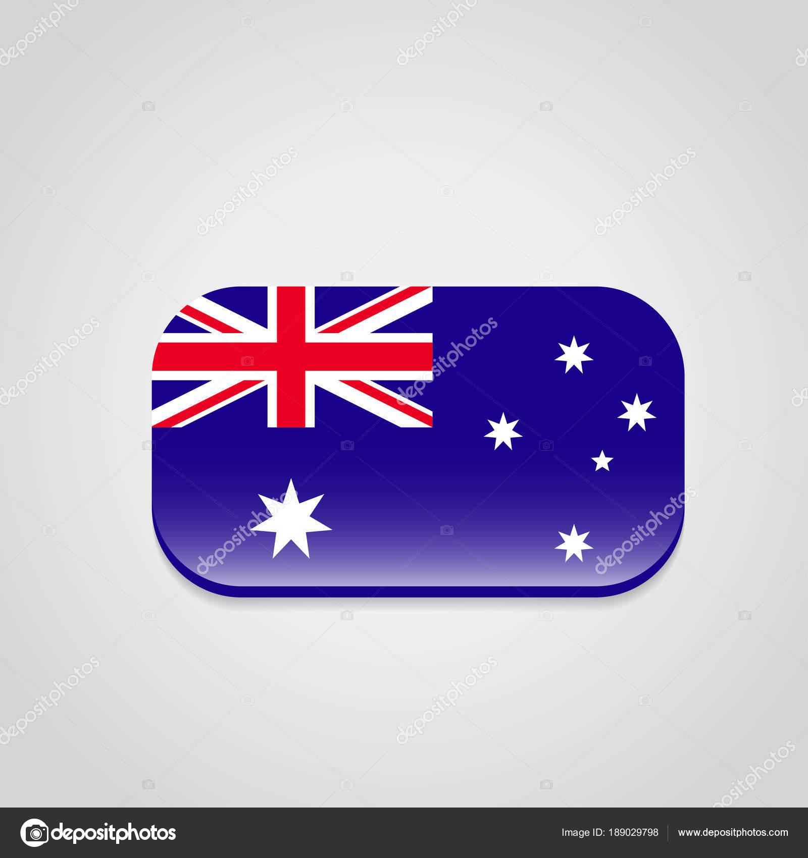 オーストラリアの旗 お土産の印刷デザインのカラフルなベクトル イラスト