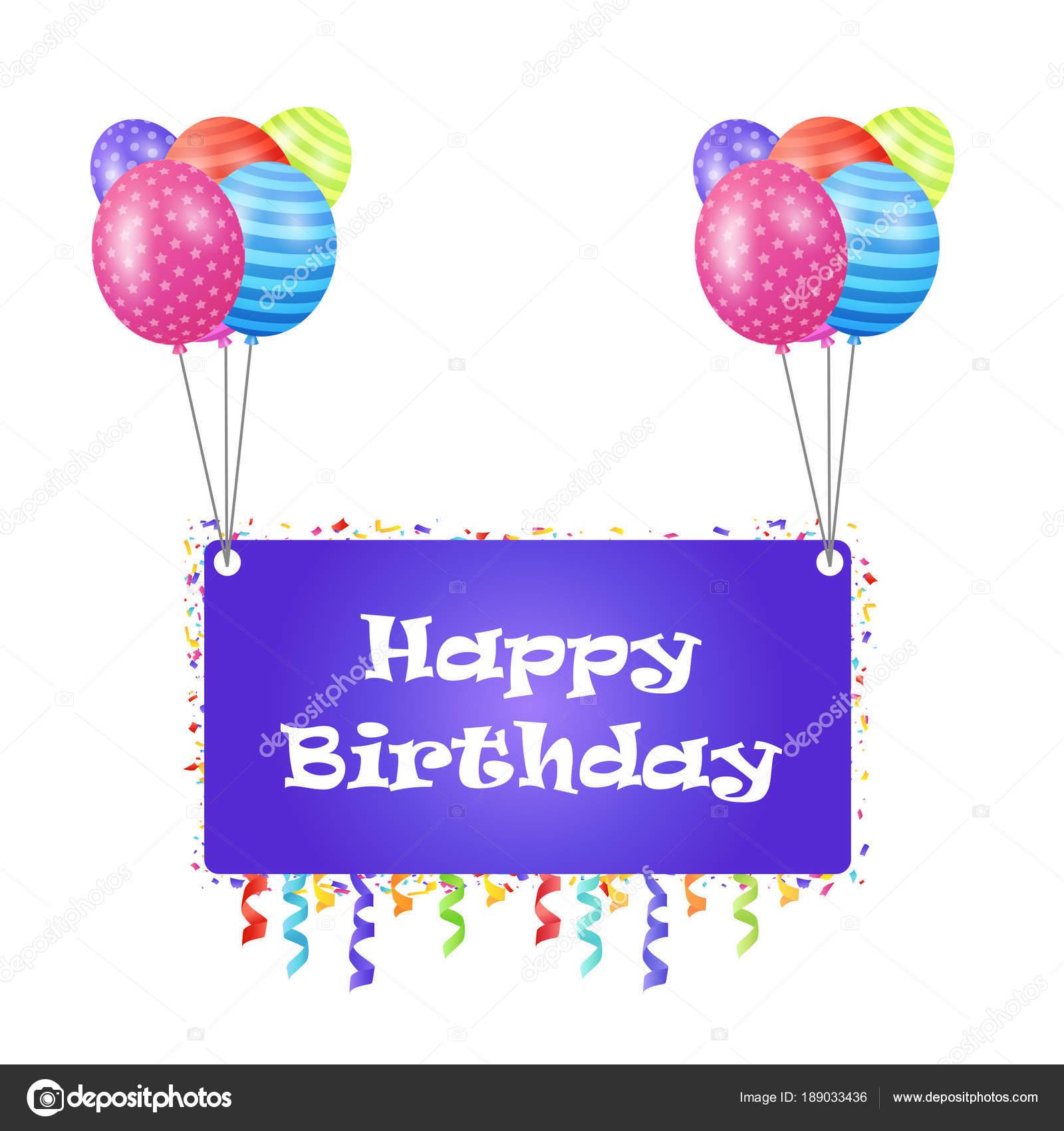Elegant design happy birthday greetings card colorful vector elegant design happy birthday greetings card colorful vector illustration stock vector m4hsunfo