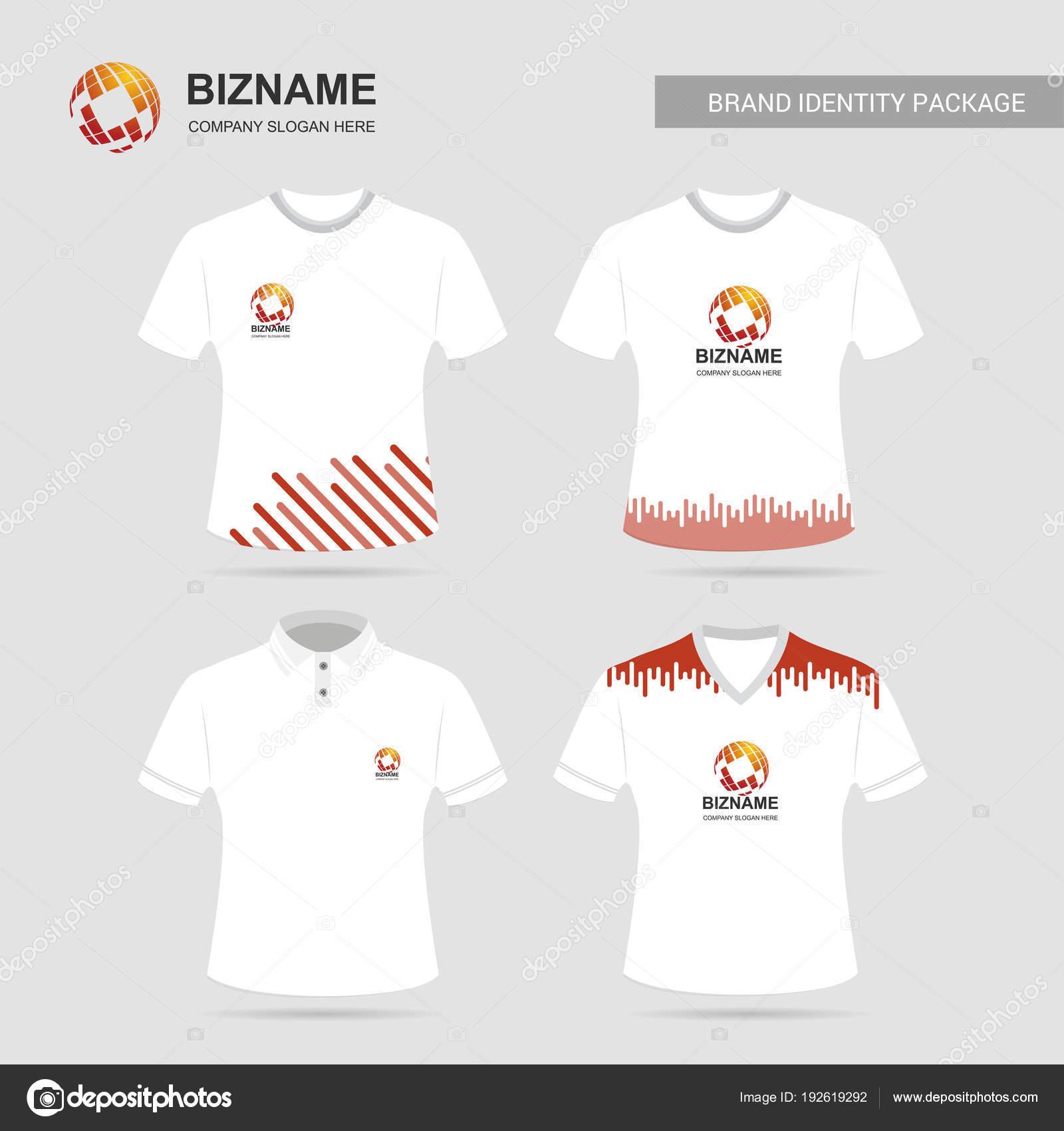 0530b1415a790 Diseño de camisetas de empresa con logotipo - programa para diseñar  logotipos en playeras — Vector de ...