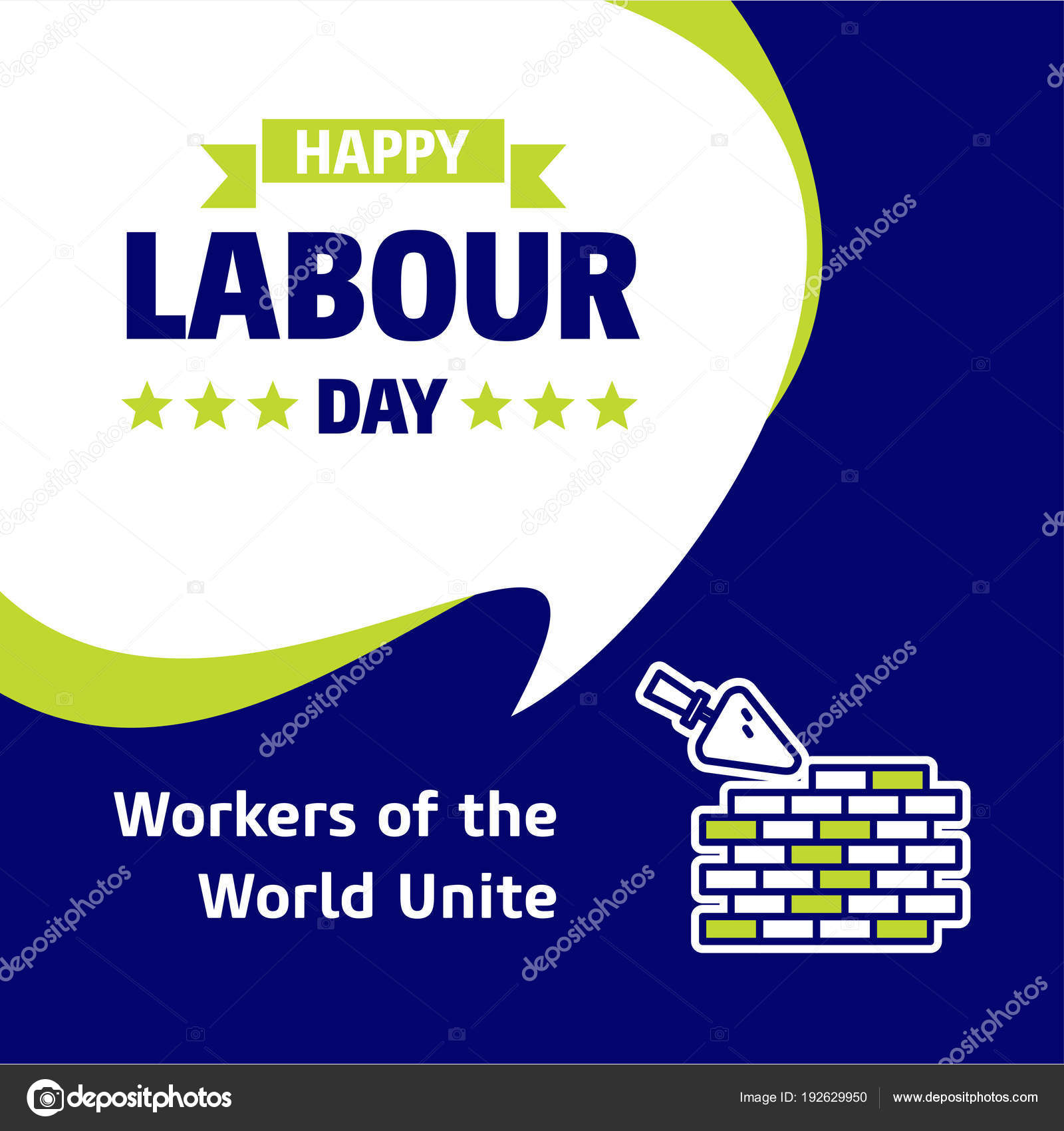 Happy labour day greeting card design green blue colors vector happy labour day greeting card design green blue colors vector stock vector m4hsunfo