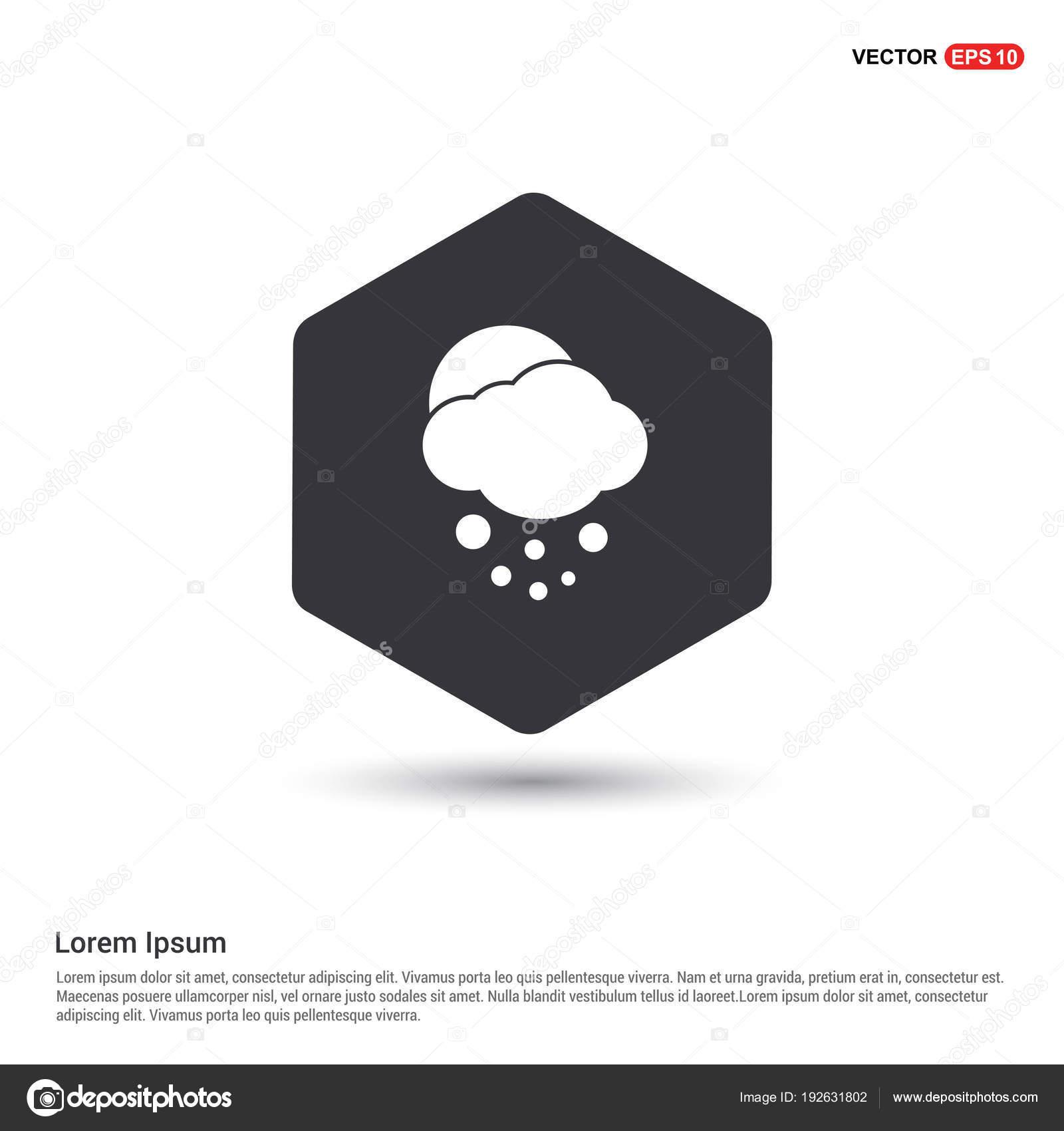 Plantilla Icono Sol Nube Icono Hexa Fondo Blanco — Vector de stock ...