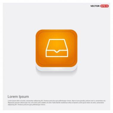 file type icon, orange button isolated on white background