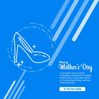 Happy mothers day decorative greeting card with lettering