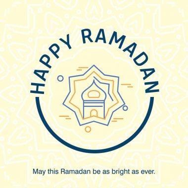 Colorful Ramadan holiday greeting card design