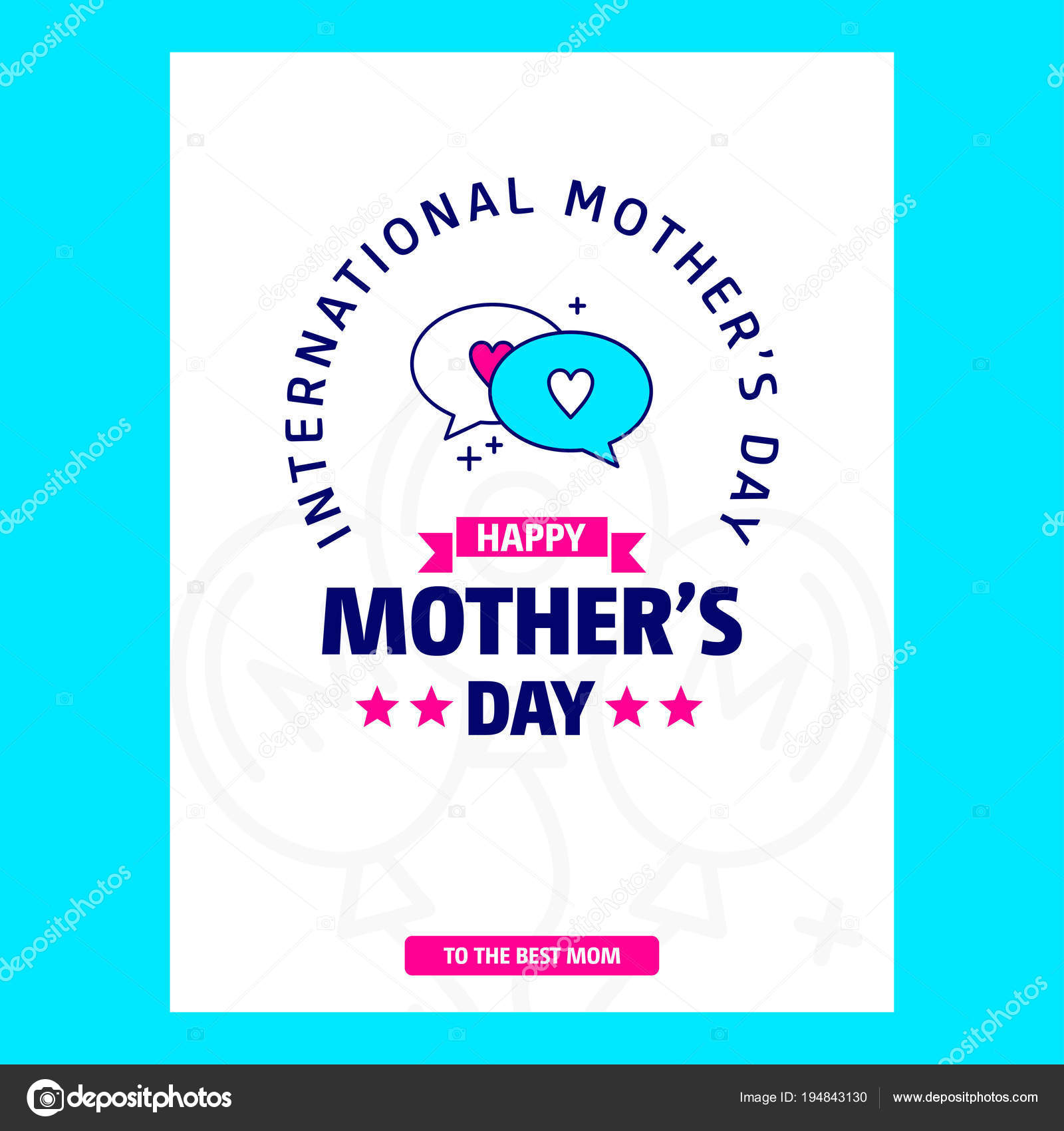 happy mother day card template vector illustration stock vector