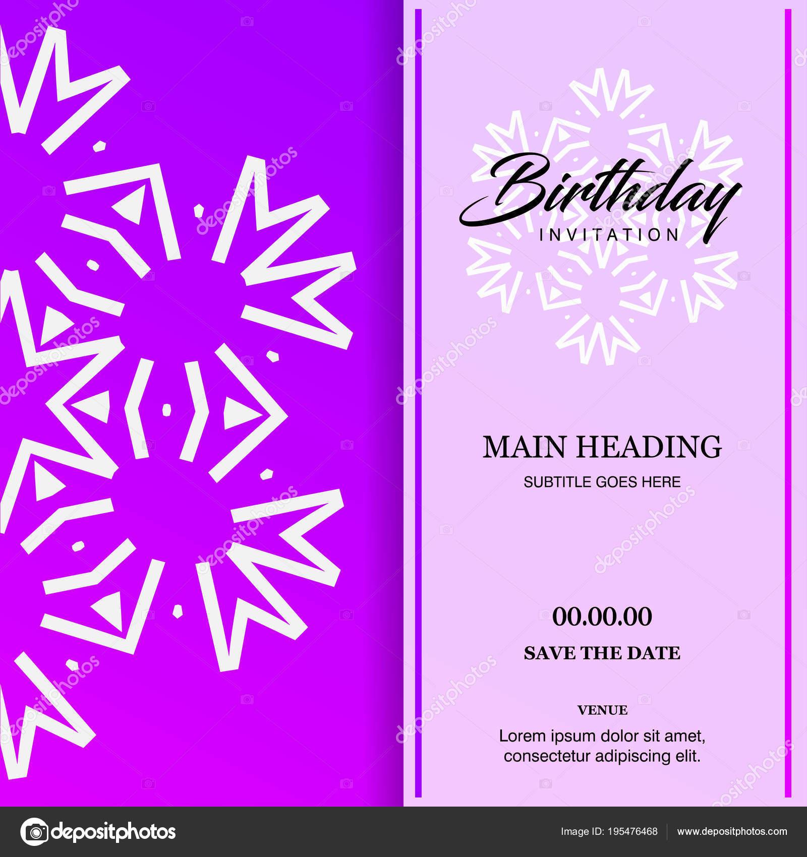 Festliche Gestaltung Der Bunten Geburtstagskarte — Stockvektor