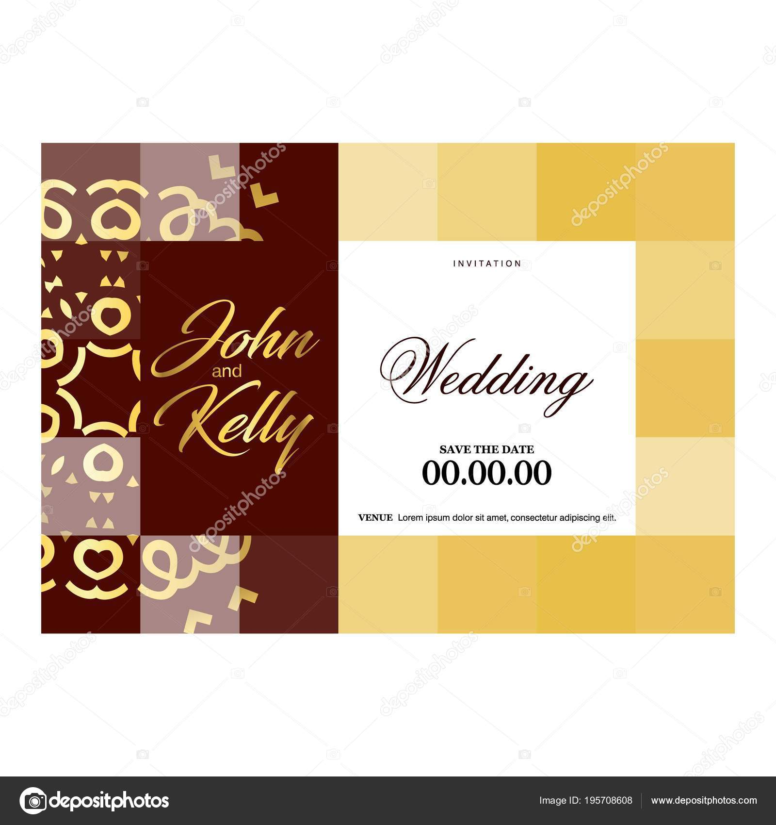 Wedding Card Creative Design Elegant Style Color Background — Stock ...