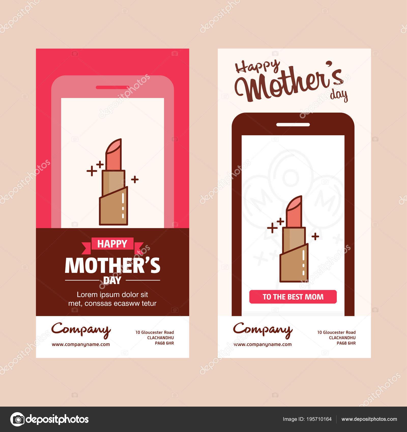 Glückliche Mutter Tag Karten Vorlage Vektor Illustration ...