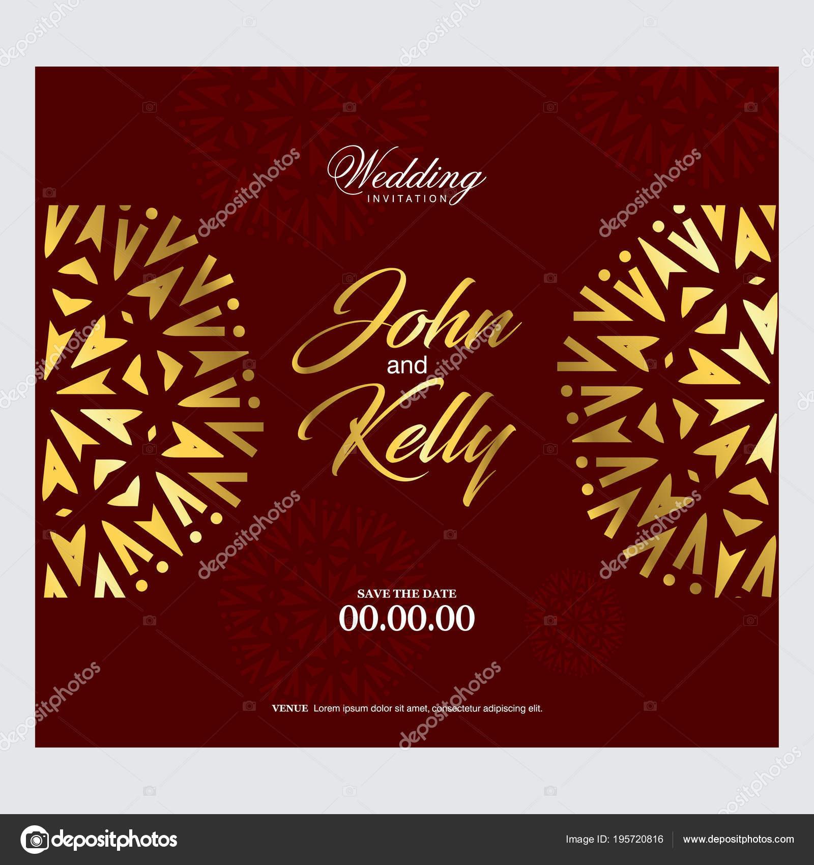 Elegant Festive Wedding Card Design — Stock Vector © ibrandify ...