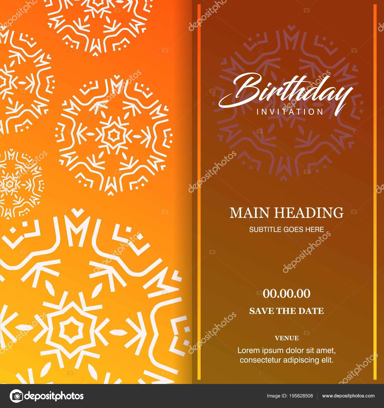 Happy Birthday Greeting Card Conception Typographique Style Unique