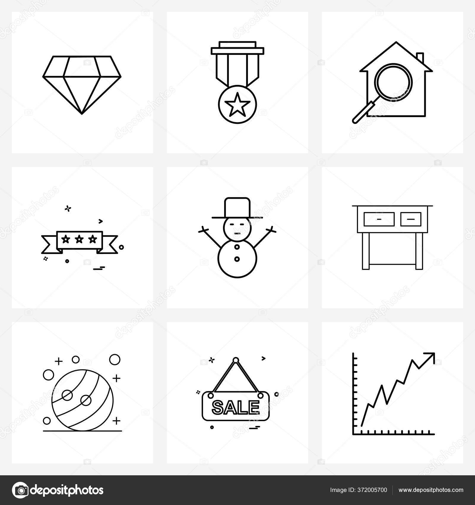 40 Icônes de ligne vectorielle modifiables et symboles modernes de table  d'étude, Noël, recherche, bonhomme de neige, prix Illustration vectorielle  ...