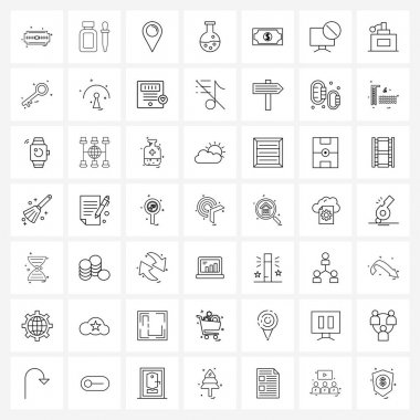 Pack of 49 Universal Line Icons for Web Applications laboratory, chemistry, pipette, chemical, world Vector Illustration icon