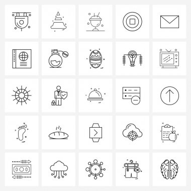 Pack of 25 Universal Line Icons for Web Applications message, new, ice, lunar, Chinese Vector Illustration icon