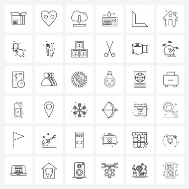 36 Universal Icons Pixel Perfect Symbols of bottom, medical, downloading, healthcare, card Vector Illustration icon