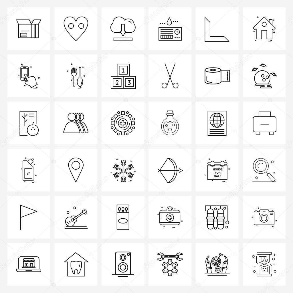 36 Universal Icons Pixel Perfect Symbols of bottom  medical  downloading  healthcare  card Vector Illustration icon