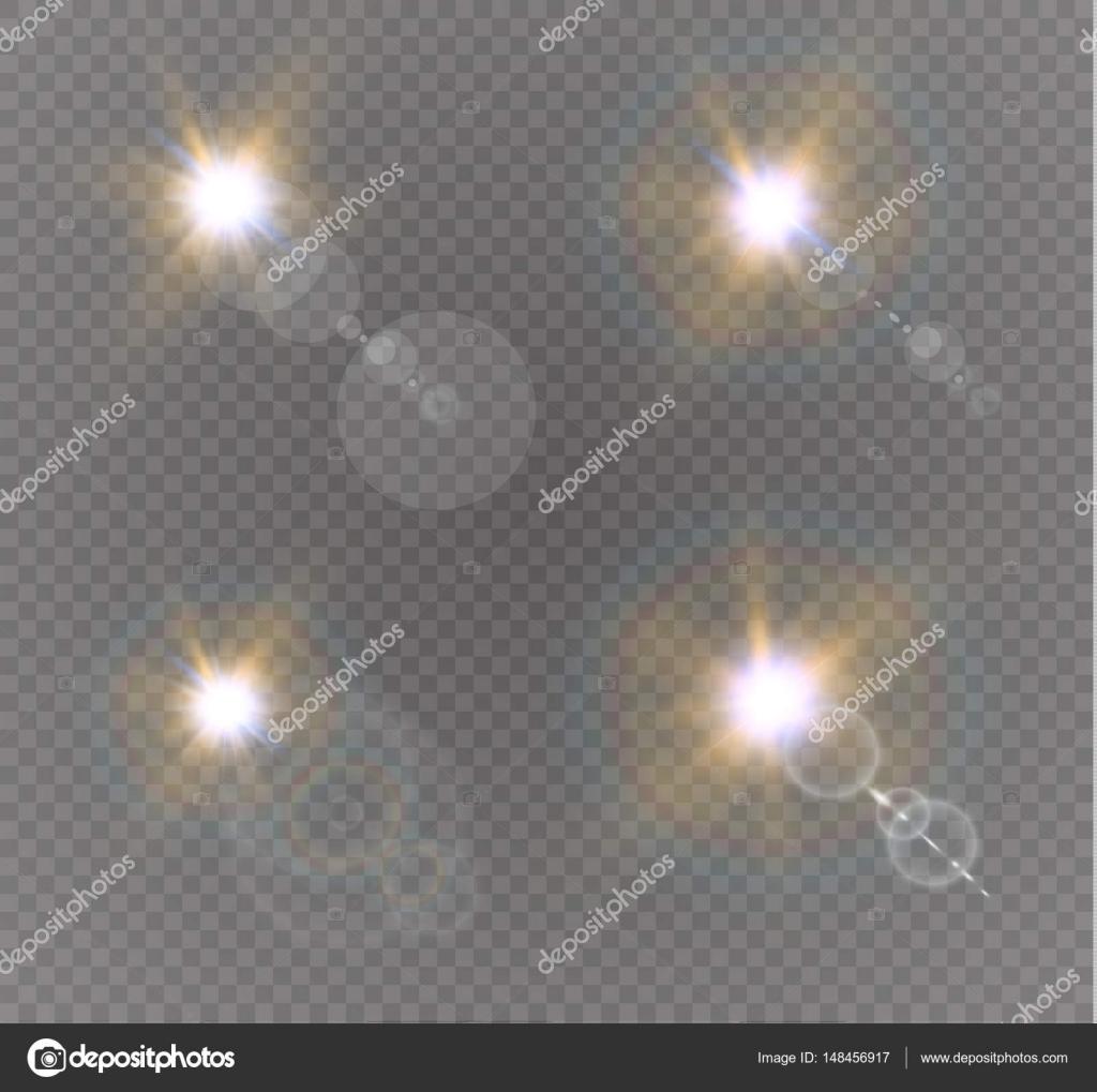 Resumen objetivo oro llamarada solar frontal transparente efecto ...