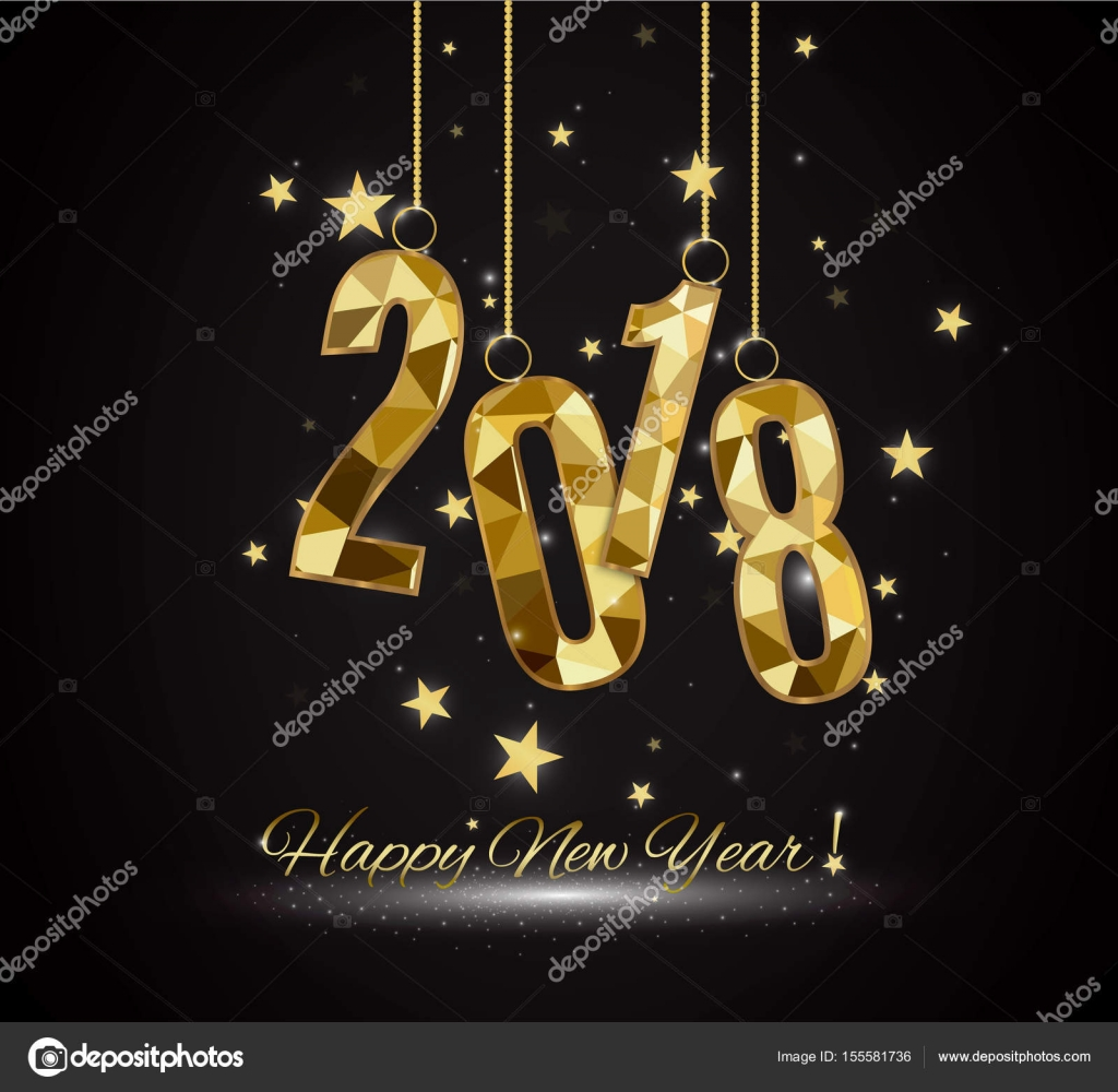 2018 happy new year background for your seasonal flyers and greetings card or christmas themed invitations vector by roman11998866gmailcom