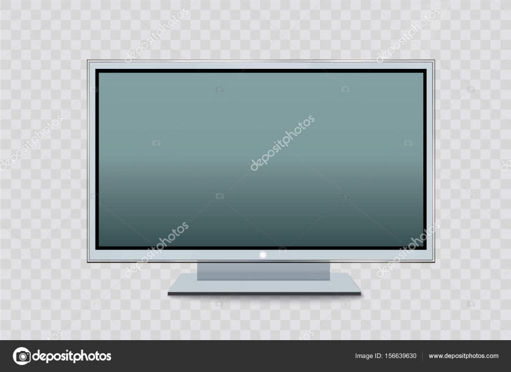 Monitor led plano de computadora o marco de fotos negro aislado ...
