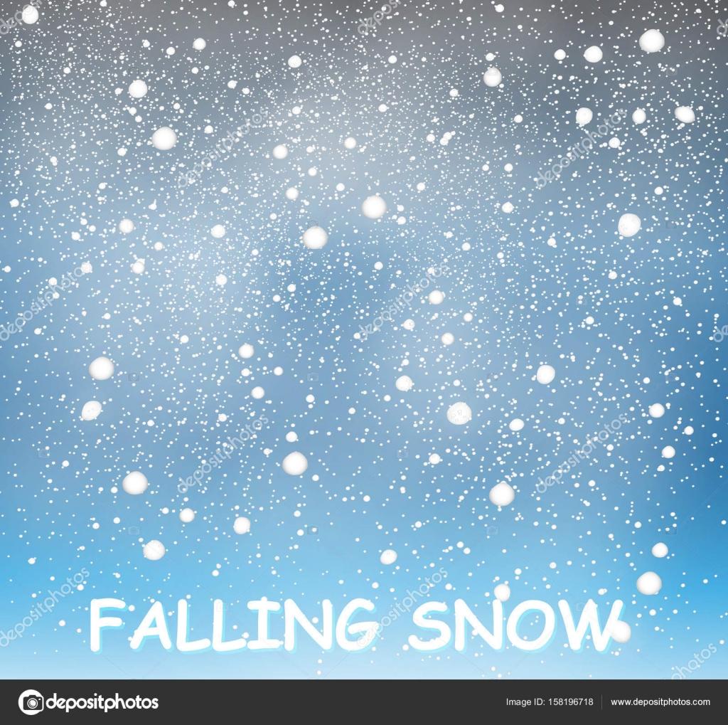 Voorraad vector illustratie vallende sneeuw. Sneeuw, sneeuwval ...