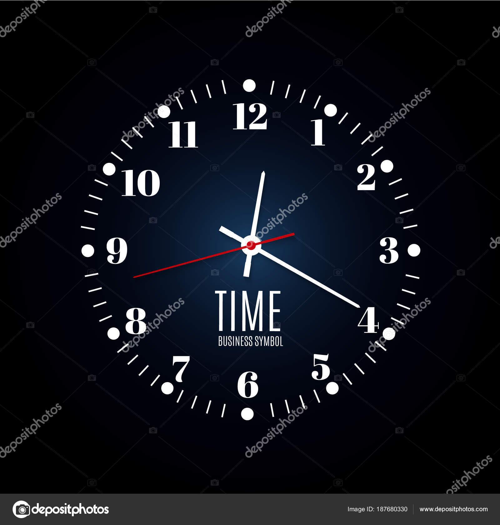 Horloge De Bureau Originale bureau d'horloge murale. modèle de conception en vecteur