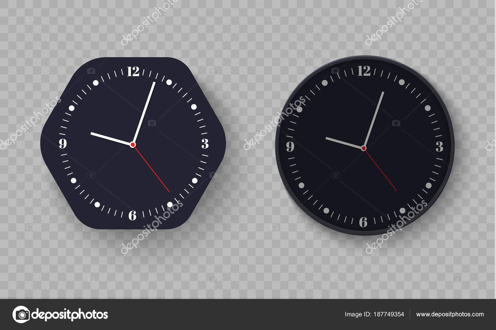 Bureau d horloge murale modèle de conception en vecteur agrandi