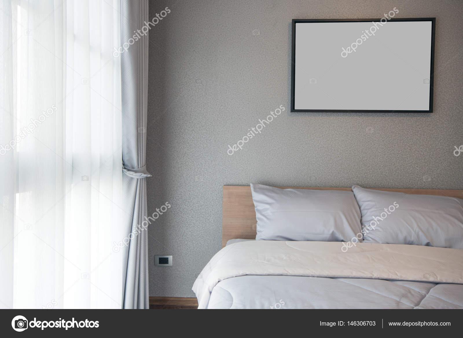 Moderne Slaapkamer Ontwerpen : Moderne slaapkamer ontwerp dubbel bed u stockfoto kitthanes r