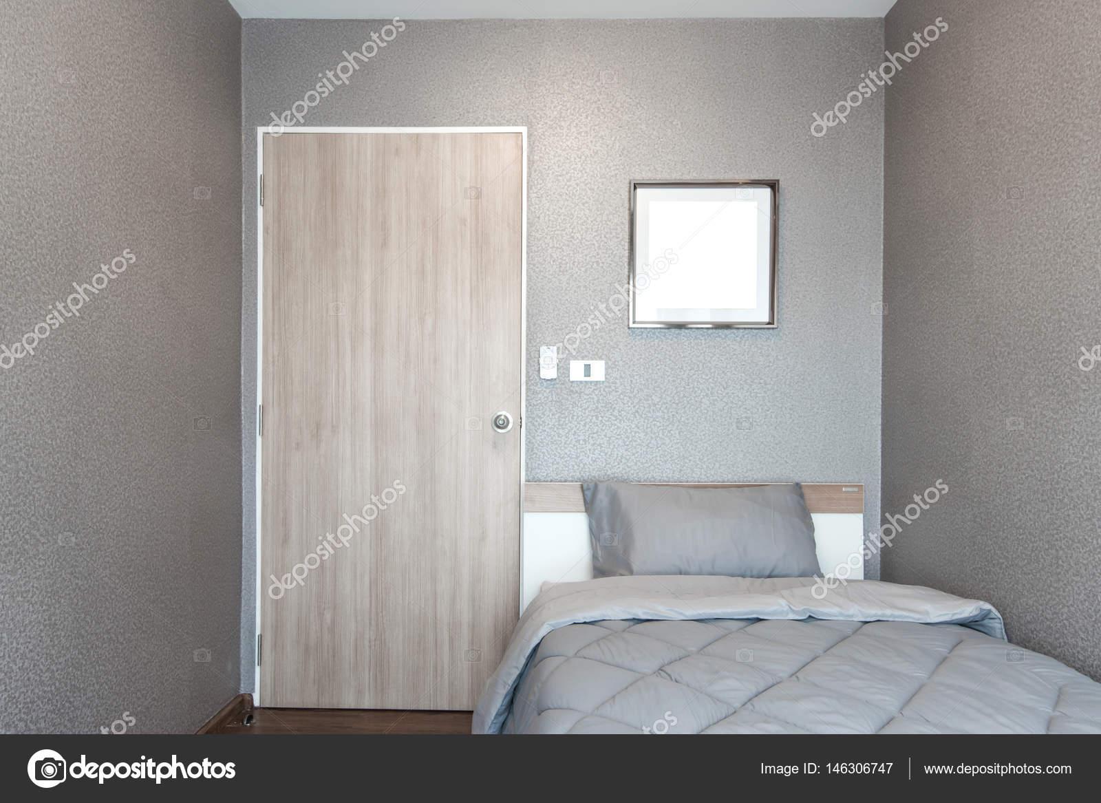 Design de chambre à coucher moderne, lit simple ...