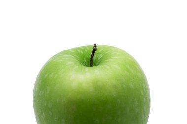 """Картина, постер, плакат, фотообои """"Зеленое яблоко, изолированные на белом фоне."""", артикул 158361224"""