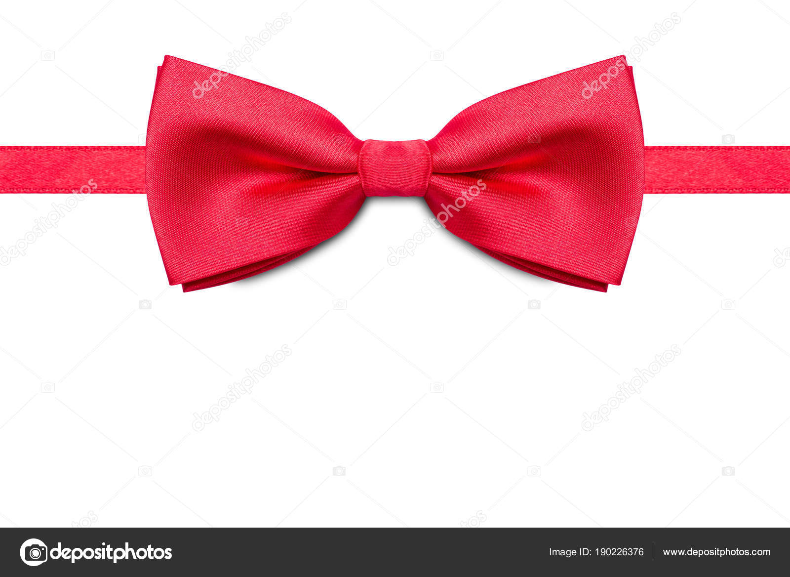 8dd7fbca Red bow tie isolated on white background. — Stock Photo ...