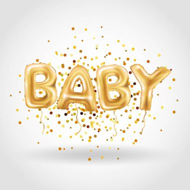 Gold baby balloons