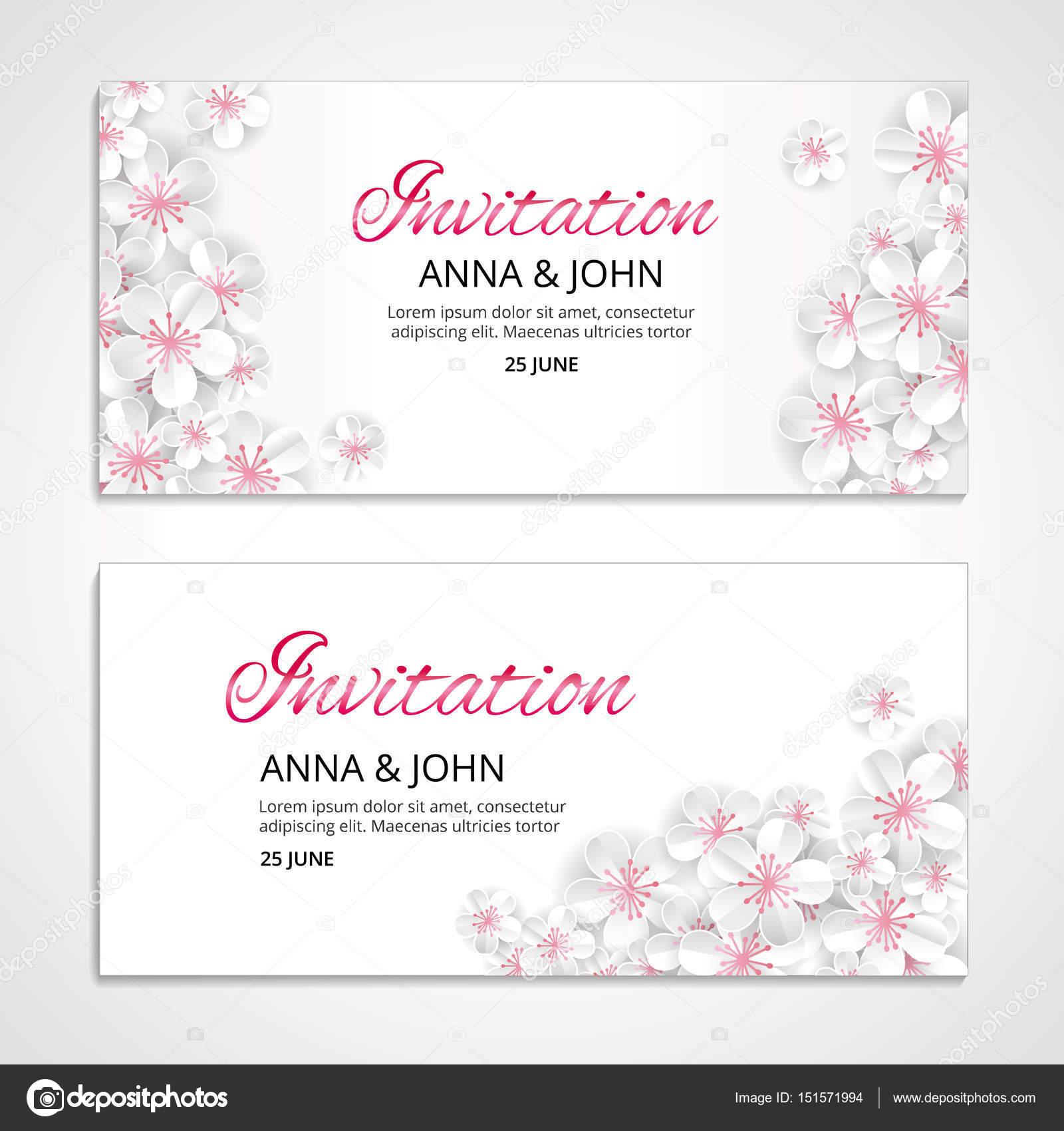 Flower Wedding Invitation Stock Vector Pirinairina 151571994