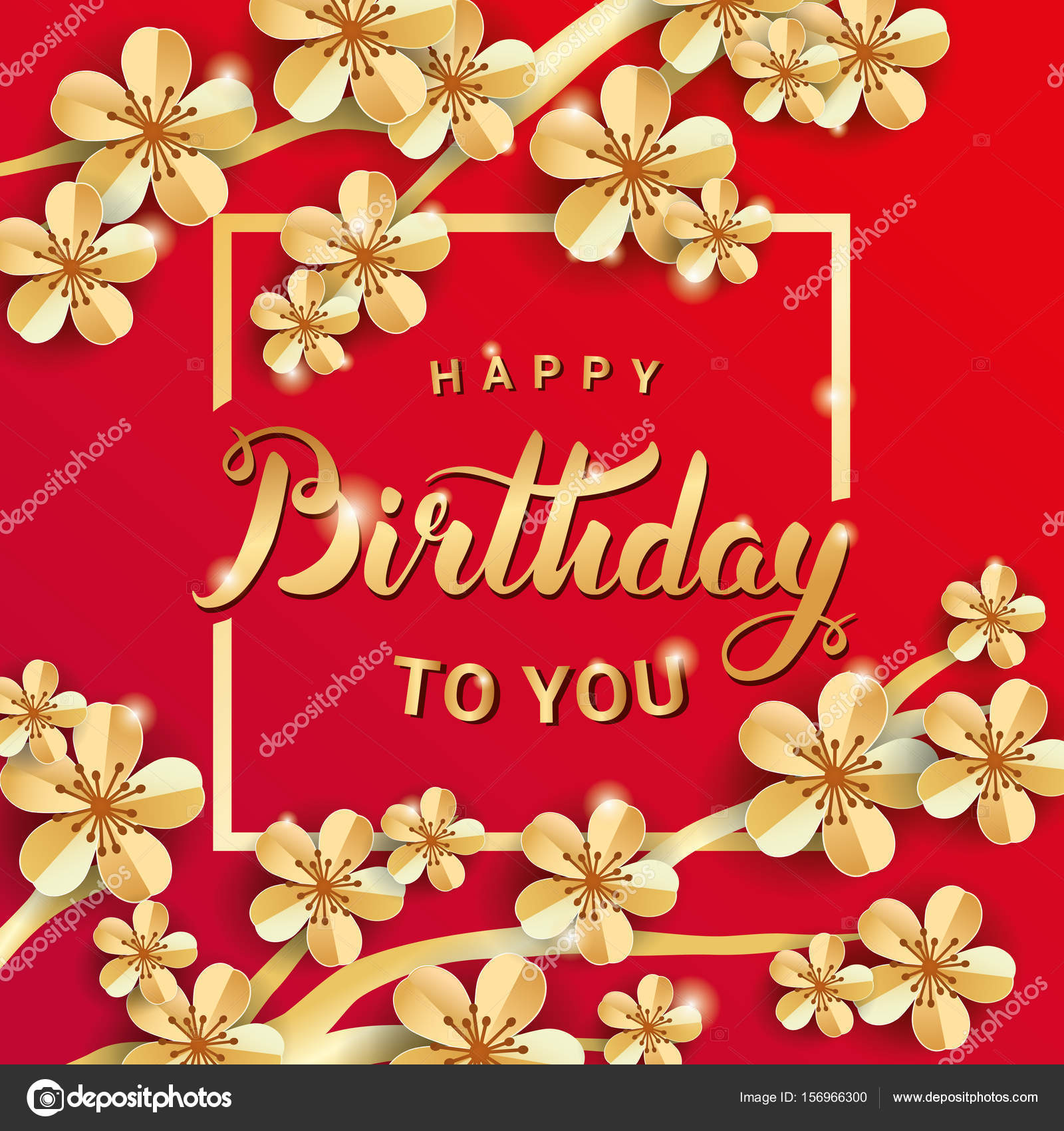 Gold flower happy birthday stock photo pirinairina 156966300 gold flower happy birthday stock photo izmirmasajfo Image collections