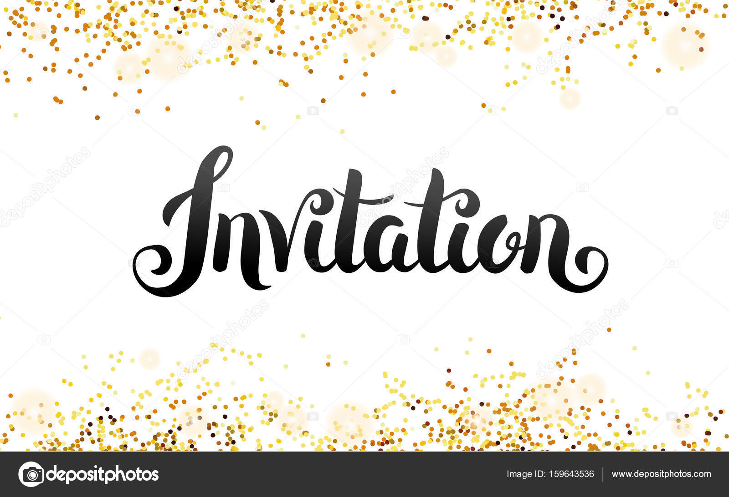 Lettering invitation you are invited stock vector pirinairina lettering invitation you are invited stock vector stopboris Choice Image