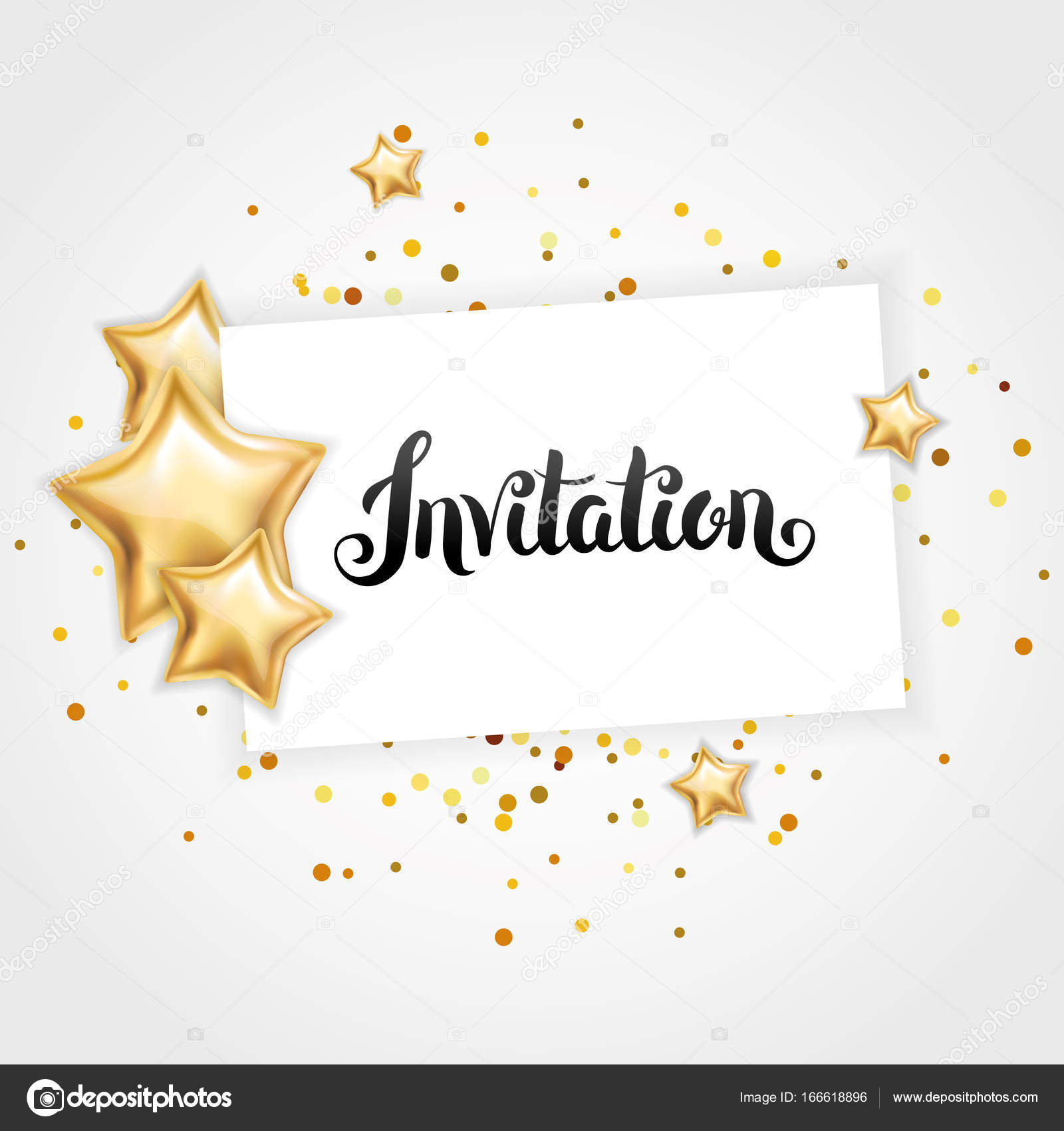 gold star invitation stock photo pirinairina 166618896