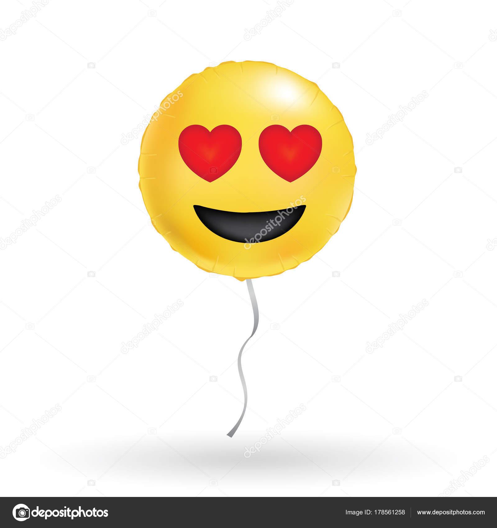 Balões Sorriso Amarelo Divertido Balão Redondo Brilhante