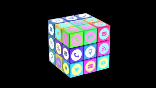 Internet social media ikonok-ban egy kocka színének módosítása