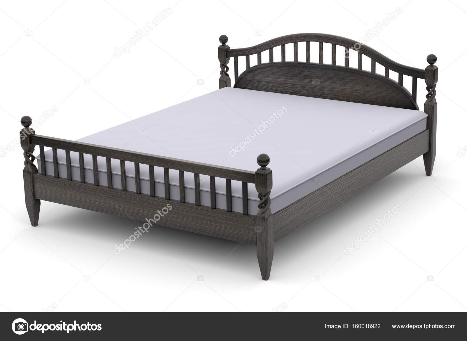 3d Illustration Of A Modern Wooden Bed Stock Photo C R Vladimir T Gmail Com 160018922
