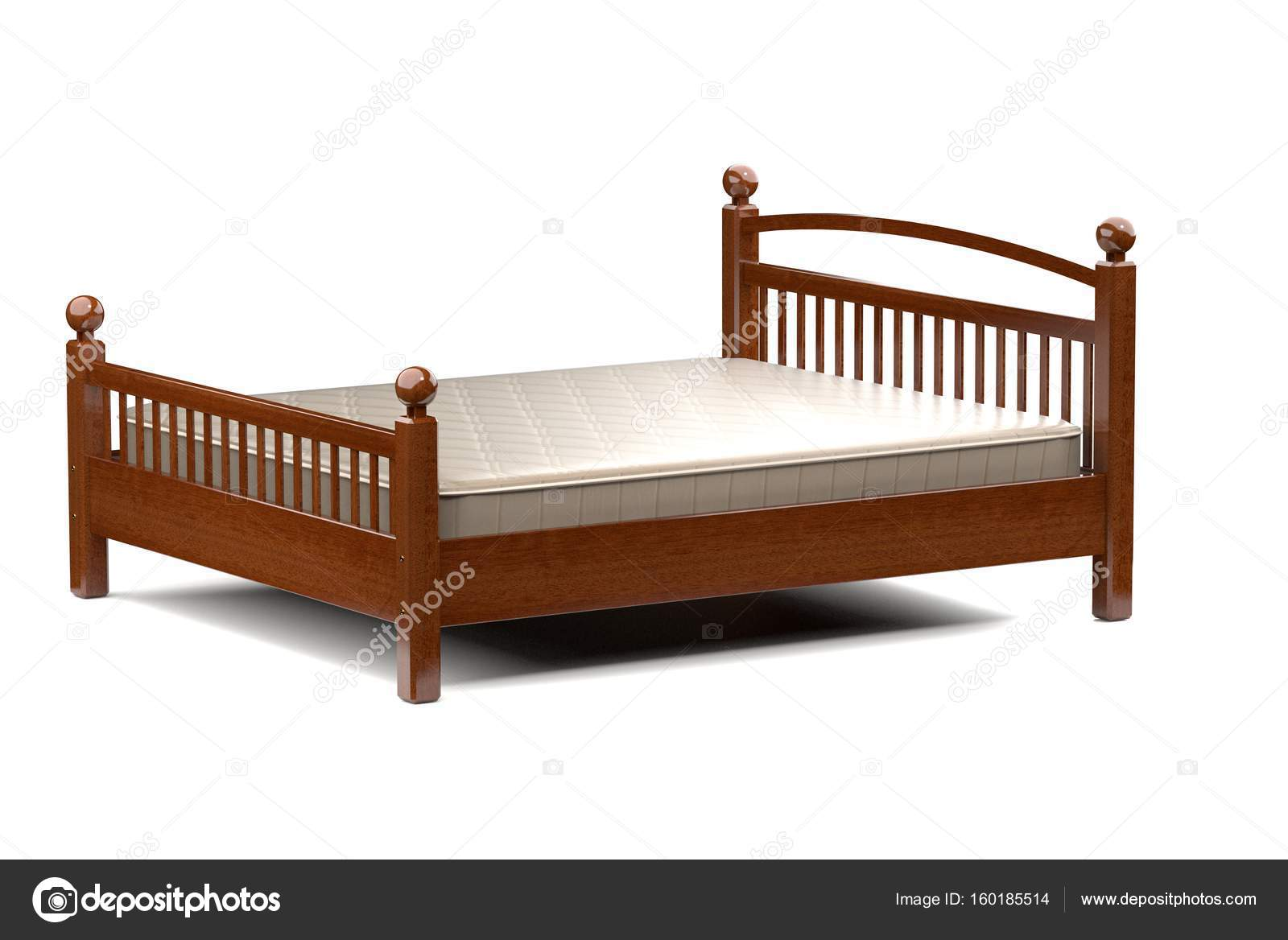 Letti In Legno Moderni : Illustrazione d di un letto in legno moderno u foto stock r