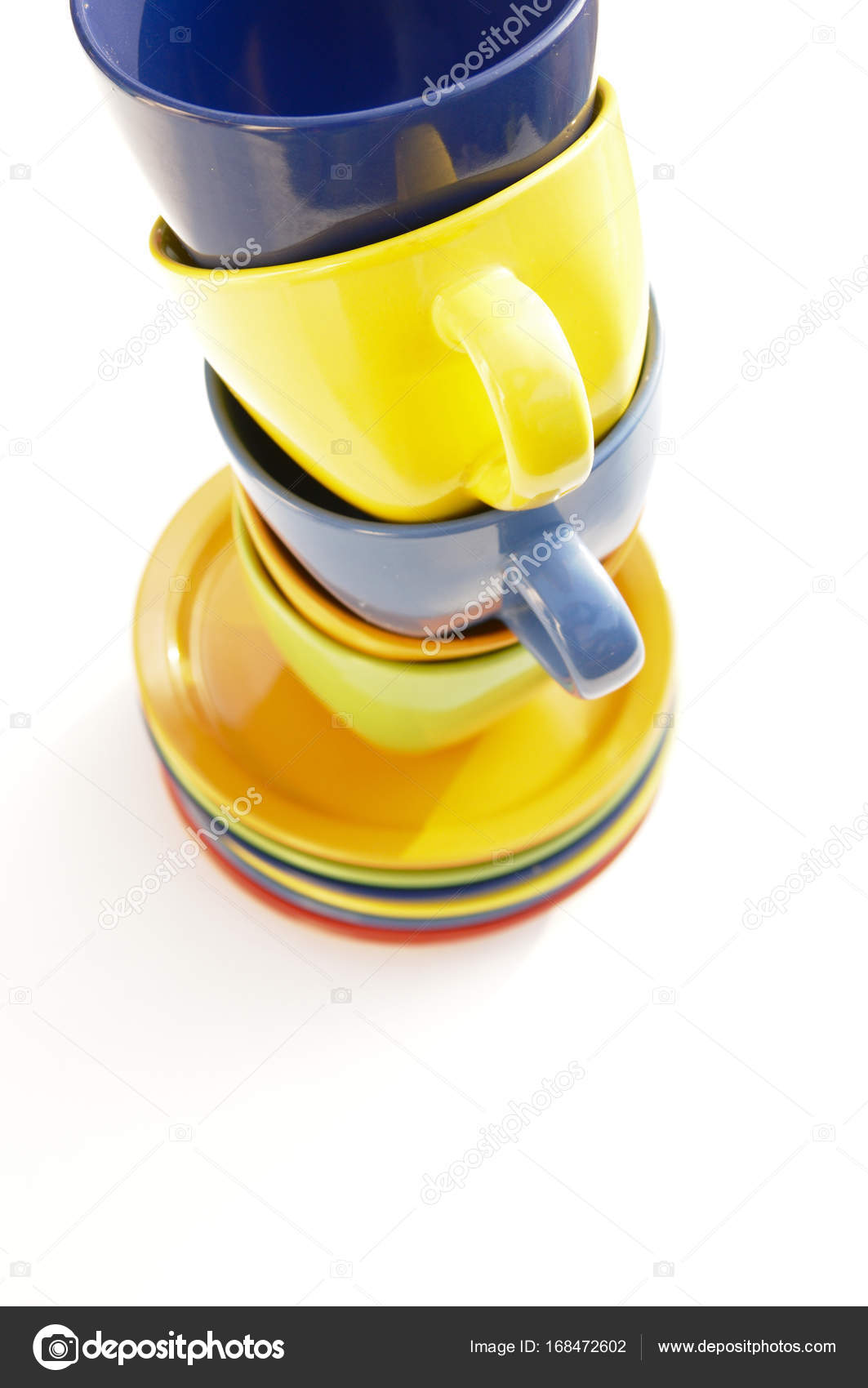 Farbige Tassen Und Teller Stockfoto C R Vladimir T Gmail Com