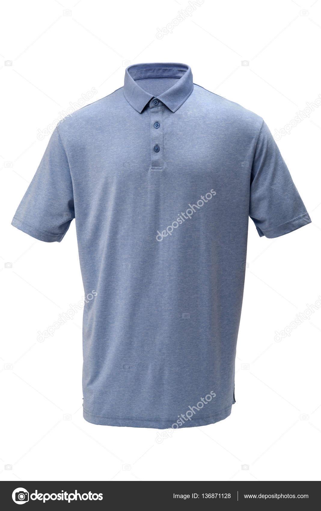 6f024a1c8f A férfi vagy nő, fehér alapon világos kék golf teeshirt — Fotó szerzőtől ...