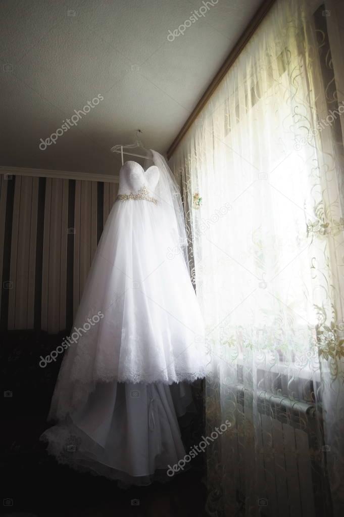 Details der Hochzeit der Braut - Brautkleid — Stockfoto © nagaets.jr ...