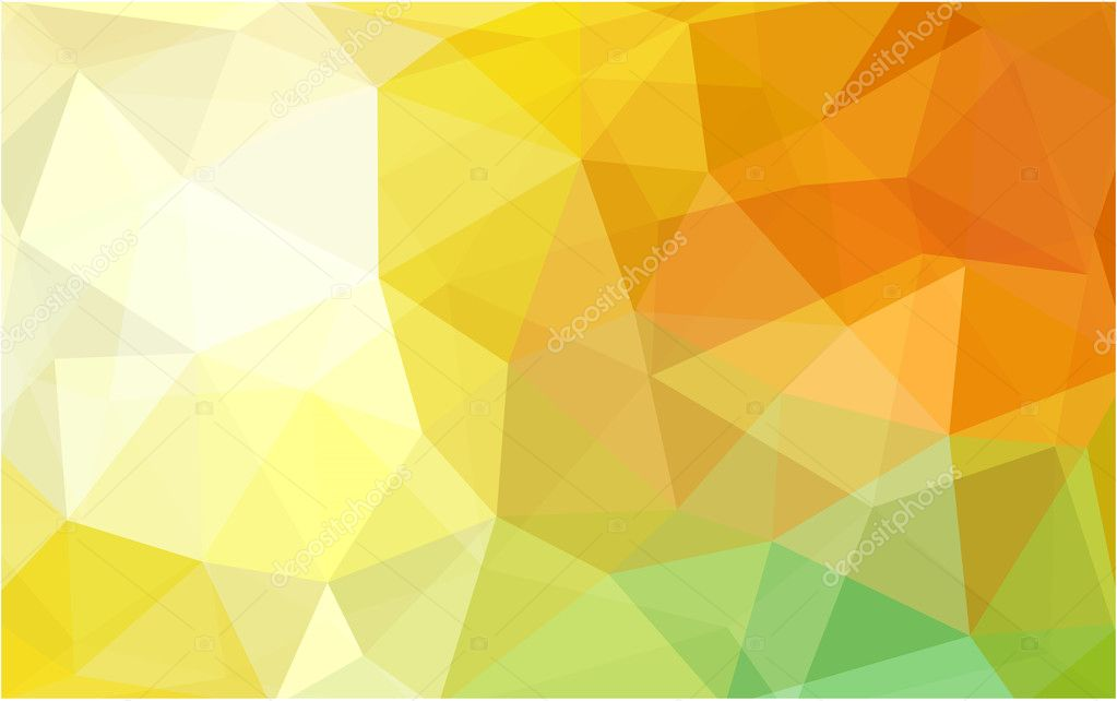 Light Red Yellow Polygonal Design Patternwhich Consist Of Triangles And Gradient In Origami