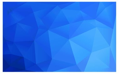 Light BLUE polygonal design pattern. Consists of triangles and gradient in origami style.