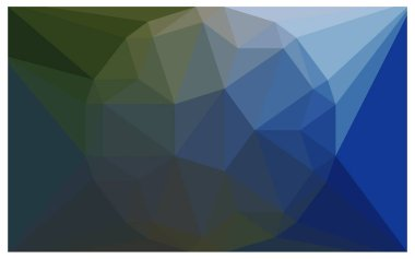 Dark Blue Green Beautiful Geometric Gemstone background with a large diamond in center.
