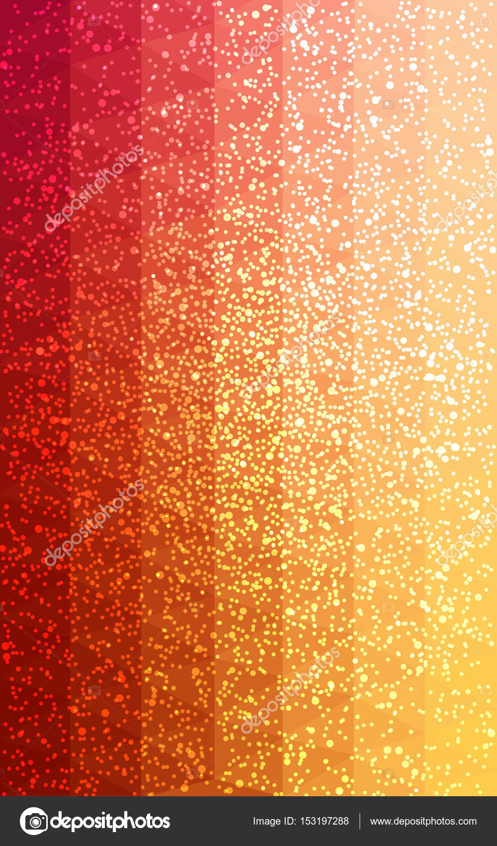 light red yellow new year crystal background with snowflakes stock photo
